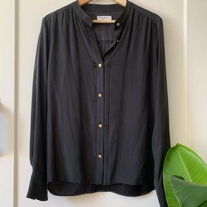 Frame - Silk Long Sleeve Button Down